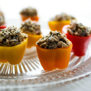 Mini Peppers Stuffed With Tuna and Olive Rillettes