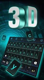[Download 3D Neon Hologram Black Keyboard Theme for PC] Screenshot 1