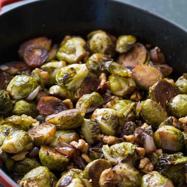 Balsamic Roasted Brussels Sprouts and Shallots Recipe | Yummly