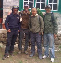 Photo: The boys: Kami, Me, Pasang, Domai