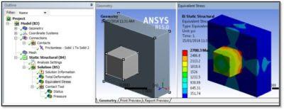 ANSYS - Контактирующие тела, импортированные при помощи файлов *.CDB и *.RST