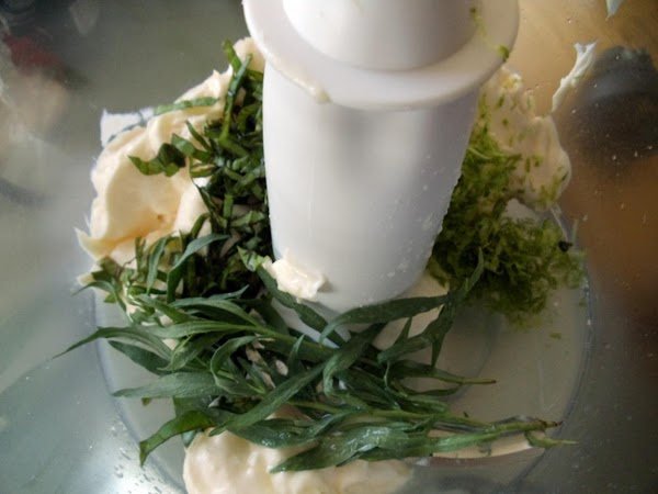 MAYO BURGER TOPPING: In blender combine mayo, basil, tarragon leaves, zest of one lime,...