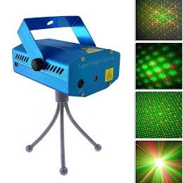 Mini Proiector laser cu 2 diode - rosu si verde