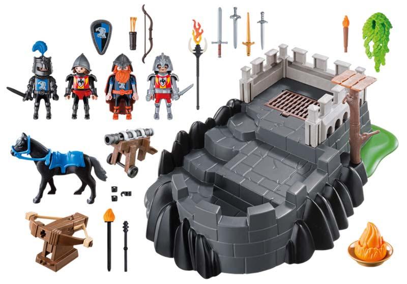 Contenido real de Playmobil® 6627 Bastión de los Caballeros del Dragón