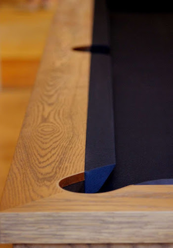 Steam Bent Oak Inlay - Pool Table Pocket