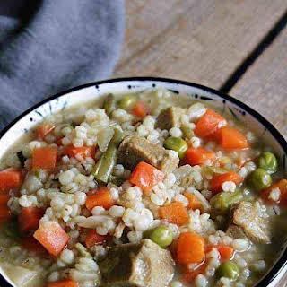 Vegan Pearl Barley Soup.