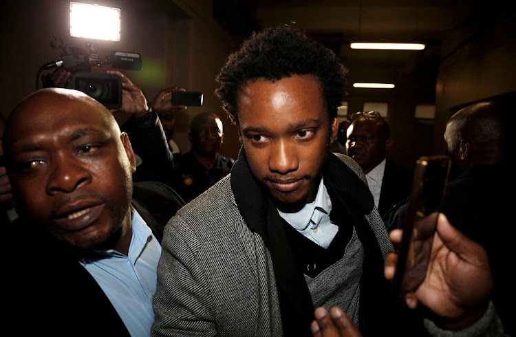 Duduzane Zuma, the son of scandal-plagued former South African president Jacob Zuma, arrives at court in Johannesburg, July 9 2018. Picture: REUTERS