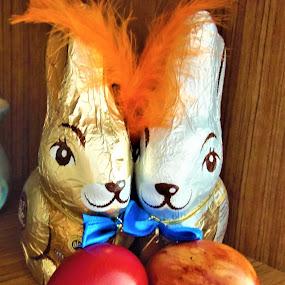 by Elenka Smilenova - Public Holidays Easter ( easter eggs rabbits )