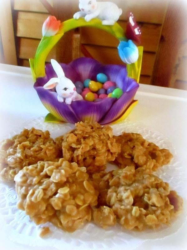~ Peanut Butter No Bake Cookies ~ Recipe