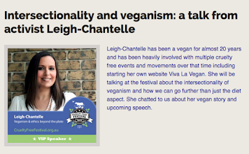 Photo: Next weekend I'll be in #Sydney for the Cruelty Free Festival  I'm giving a #talk on #Veganism & #Ethics Beyond the Plate at 4:30pm - hope to see you then!  Read my #interview for the #festival on my #vegan journey, my vivalavegan.net #website & what to expect for my talk: http://ow.ly/TsXP2