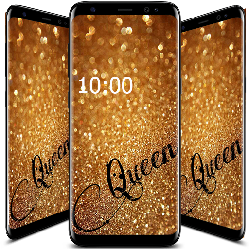 86 Queen Glitter Wallpaper If Its Pink Or Sparkly Yes I Want It