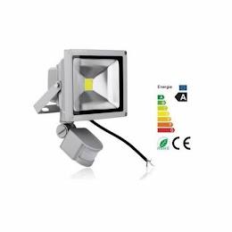 Proiector LED metalic cu senzor de miscare 10 W