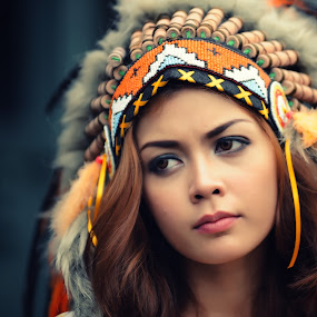 Cute Indian girl by Dida Istanto Fajar - People Fashion