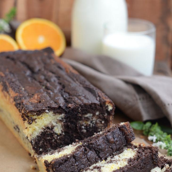 Chocolate and Orange Marble Loaf Cake Recipe