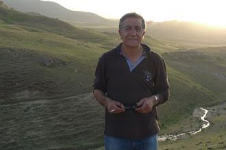Photo: Ahmet Köroğlu in front of his village near Bazit (Doğubayazıt), North Kurdistan/Turkey, 2015