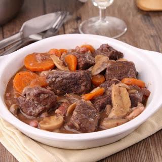 Pressure Cooker Beef Bourguignon.