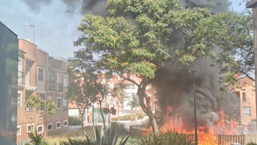 El parque ha sido pasto de las llamas.