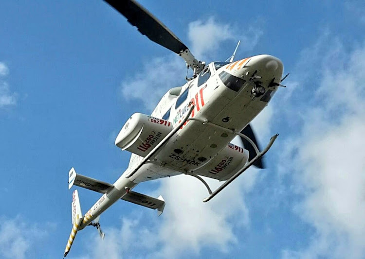 A three-year-old boy was airlifted to hospital after being shot by robbers in the early hours of Wednesday morning.