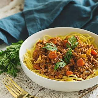 Traditional Bolognese Meat Sauce.