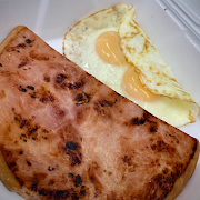 Two Eggs with Ham Steak