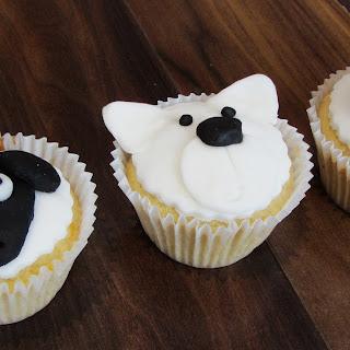 Black and White Animal Cupcakes