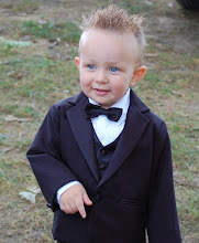 Photo: Wes as ringbearer in his cousin's wedding