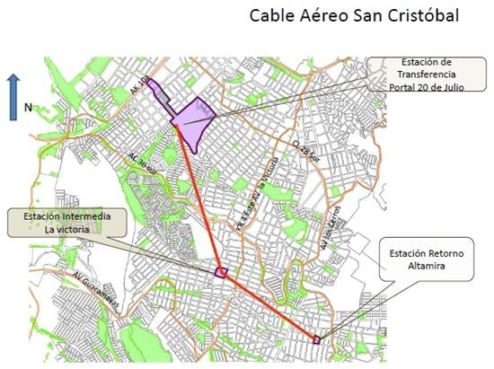 Cable aéreo para San Cristóbal estaba listo para contratarse. | Vientos  Estereo