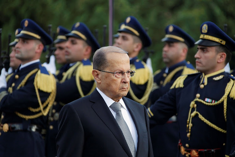 Lebanese President Michel Aoun arrives at the presidential palace in Baabda, near Beirut, Lebanon. Picture: REUTERS/Aziz Taher