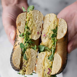 Avocado Chickpea Salad Sandwich.