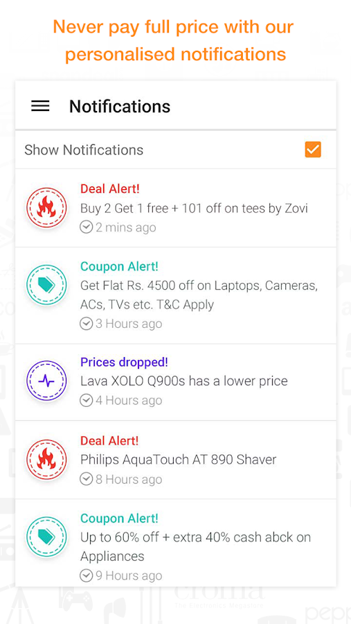 Compare Prices Coupons & Deals - screenshot