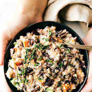 Crockpot Creamy Chicken and Wild Rice Casserole.