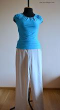 Photo: трикотажная футболка и женские летние брюки из лен-вискоза