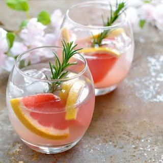 Rosemary Grapefruit Mojito Cocktail.