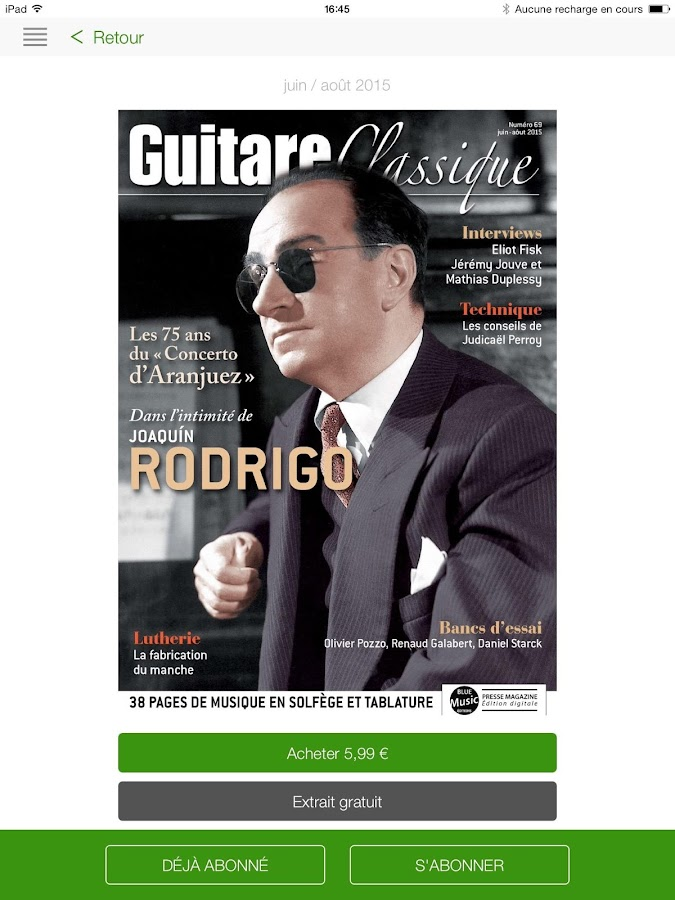 Guitare Classique Magazine- screenshot