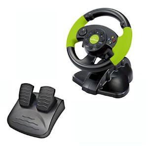 Volan gaming cu pedale, Xbox 360/PC/PS3, 13 butoane, vibratii, Esperanza