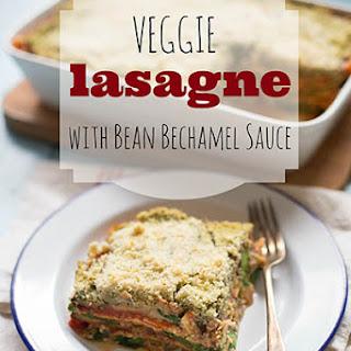 Veggie Lasagne with Bean Bechamel Sauce.