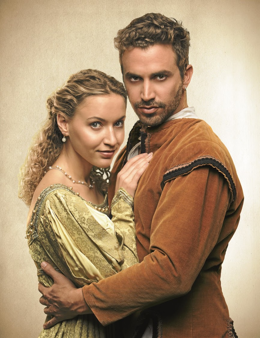 Taking the lead: Roxane Hayward and Dylan Edy in Shakespeare in Love. Picture: DANIEL RUTLAND MANNERS