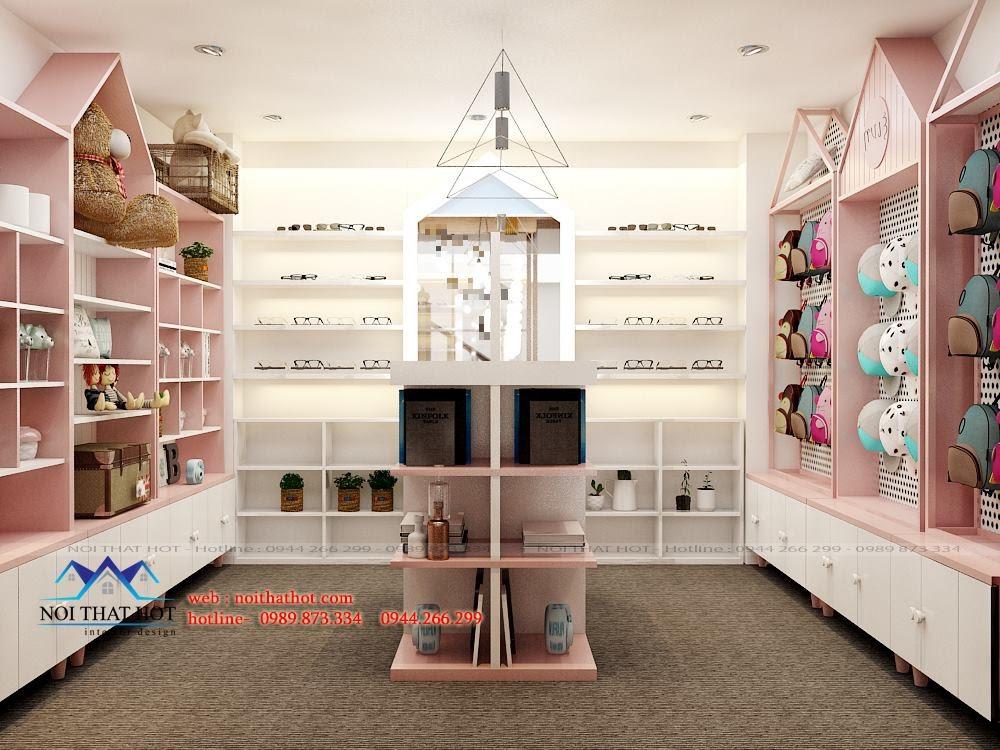 Thiết kế cửa hàng quà lưu niệm trẻ trung