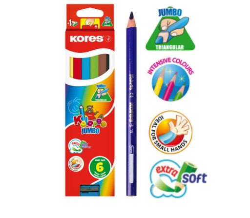 colores kores jumbotrian + sacapunta 6 und