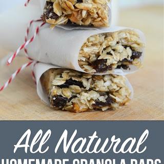 All Natural Homemade Granola Bars