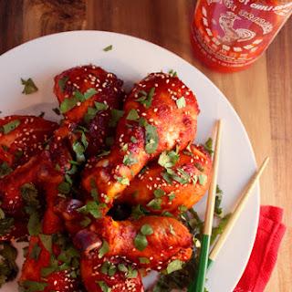 Sriracha Drumsticks.