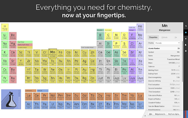 Chemreference periodic table chrome web store powerful periodic table and chemistry reference tool urtaz Choice Image