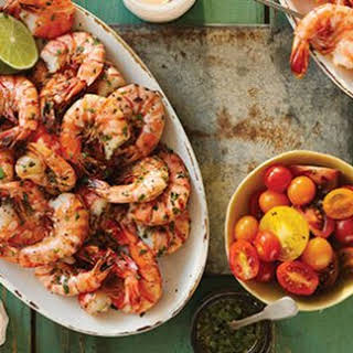 Grilled Shrimp with Mustard-Seed Sauce.
