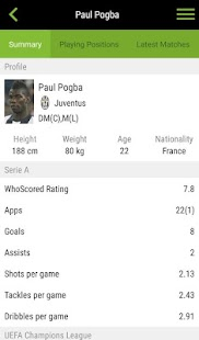 WhoScored Football App- screenshot thumbnail