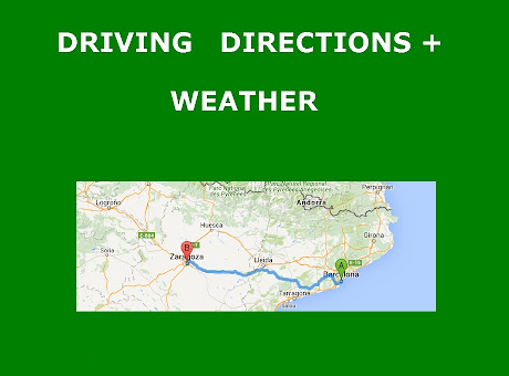 Driving directions with weather information