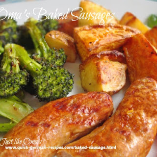 Oma's Baked Sausage