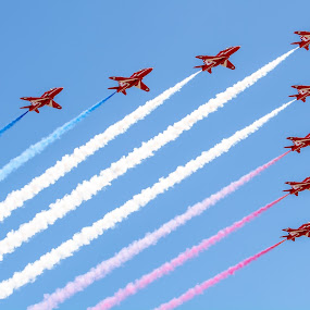 The Red Arrows by Andy Smith - Transportation Airplanes ( flight, red arrows, best of british, stunt, planes,  )