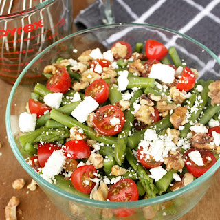 Asparagus, Tomato, Walnut Salad