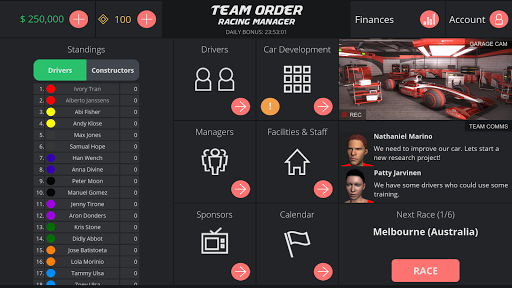 Team Order: Racing Manager 0.9.10 gameplay | by HackJr.Pw 4