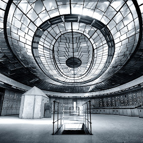 Abandoned power plant by Péter Mocsonoky - Buildings & Architecture Architectural Detail ( plant, control, hungary, old, worn, obsolete, abandonded, glass, pale, power, switch, rusty, industry, steam )